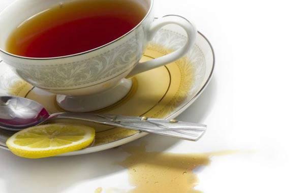 Очистить пятно чая